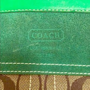 Coach Bag - Used, Brown and Green